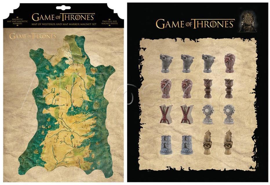 Set imanes Mapa de Poniente. Juego de Tronos
