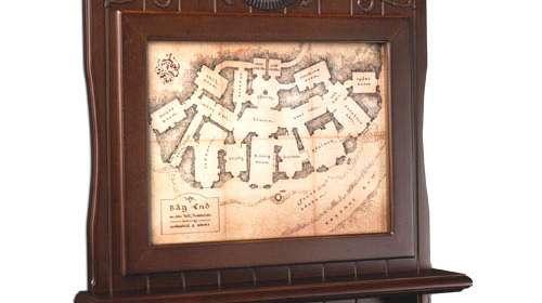 Soporte para Llaveros de pared en madera Mapa de Bag End. El Hobbit. Noble Collection