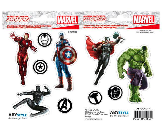 Stickers Los Vengadores. Marvel