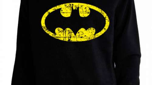 Sudadera Batman. Logo desgastado