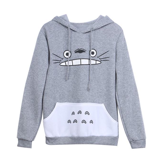 Sudadera chica Totoro gris.