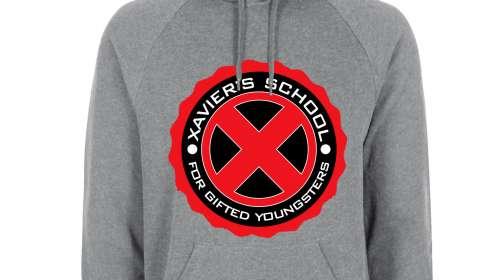 Sudadera con capucha Charles Xavier logo instituto. X-Men