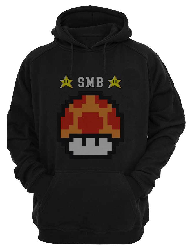 Sudadera con capucha Super Mario Bros seta naranja