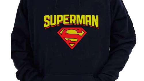 Sudadera logo vintage Superman. Modelo 3