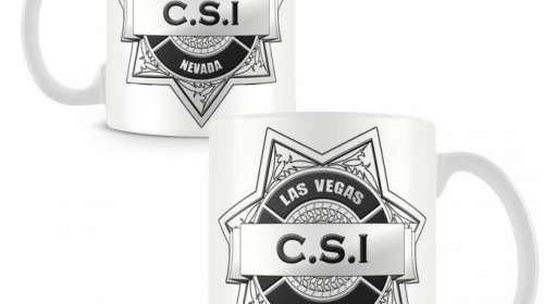Taza CSI: Crime Scene Investigation. Las Vegas Police