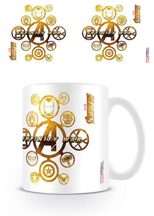 Taza Connecting Icons. Vengadores: Infinity War