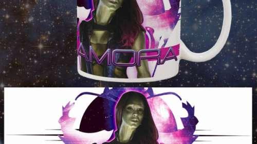 Taza Gamora. Guardianes de la Galaxia