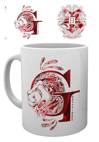 Taza Harry Potter Gryffindor Monogram