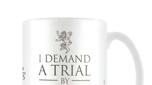 Taza I demand a trial by combat. Juego de Tronos. Pyramid International
