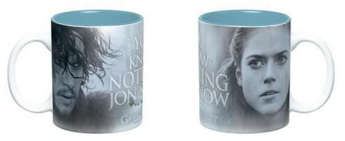 Taza Jon Nieve y Ygritte. Juego de Tronos. You know Nothing