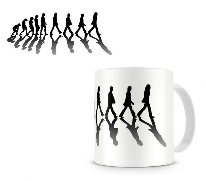 Taza The Beatles. Abbey Road Evolution