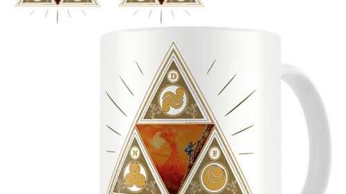 Taza The Legend of Zelda símbolos diosas de oro
