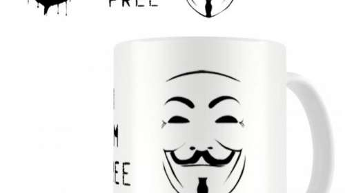 Taza V de Vendetta. I Am Free