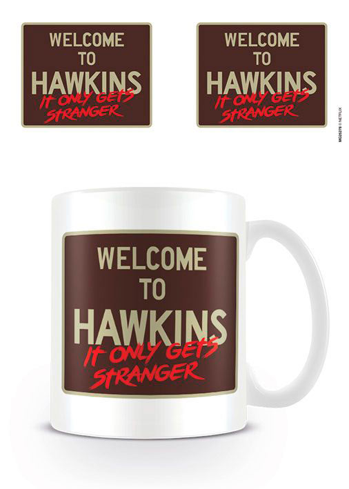 Taza Welcome to Hawkins. Stranger Things