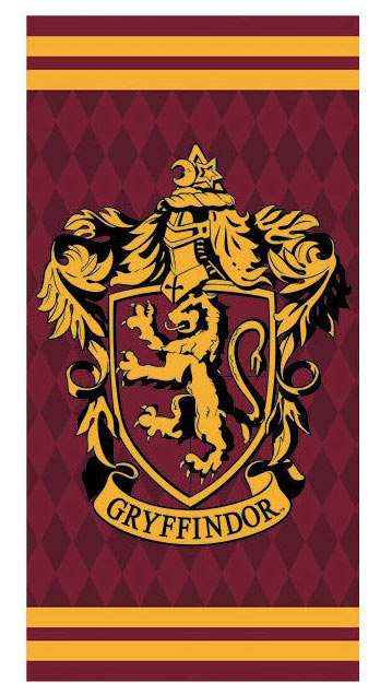 Toalla de playa Gryffindor. Harry Potter 70 x 140 cm