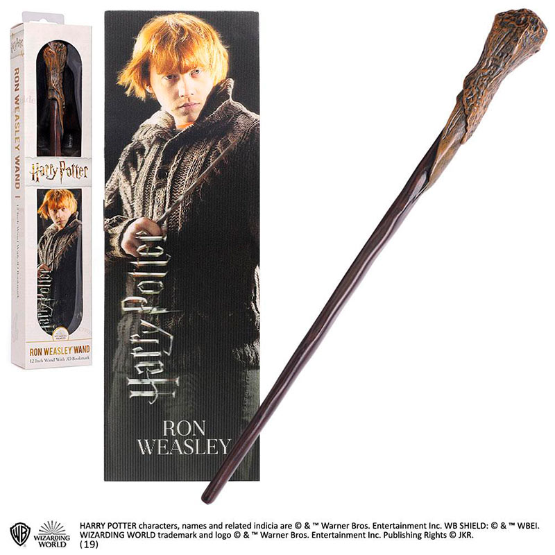 Varita mágica Ron Weasley 30 cm. Harry Potter. Noble Collection