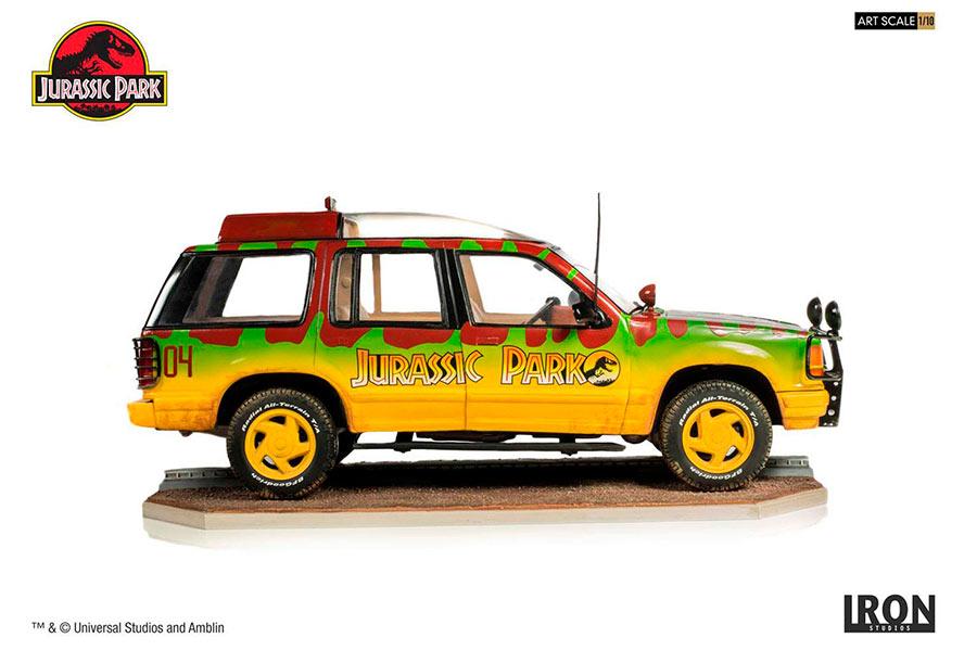 Vehículo Ford Jungle Explorer nº4 de 21 cm. Jurassic Park (Parque Jurásico). Con luz. Art Scale. Iron Studios